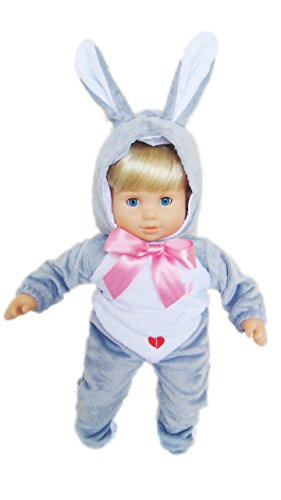 My Brittany's Grey Easter Bunny Costume for Bitty Twins Dolls (Twin Girl Costumes)