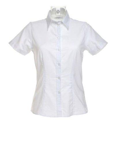 Kustom Kit Workplace Oxford blouse short sleeved - White - UK 12 / US 8 / EU (Kustom Kit)