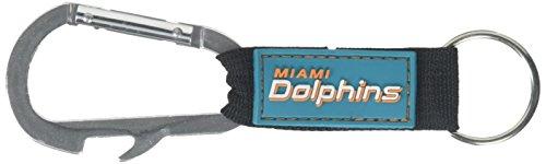 Pro Specialties Group NFL Miami Dolphins Carabineer Keychain, Aqua, One Size ()
