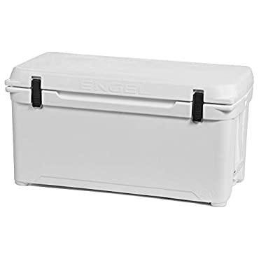 Engel 19.5 Gallon 78 Can 85 High Performance Seamless Roto Molded Cooler, White