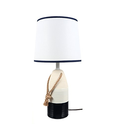 DEI Navy & White Buoy Décor Lamp, Medium,
