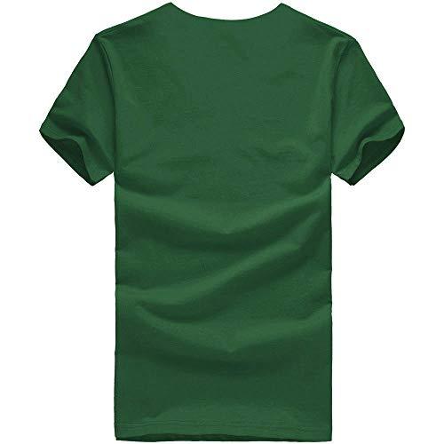 Unisex De Vêtements Manadlian Homme Chemise Tops T Couple Casual shirt Impression Adult Sport Été Femme Blouses Vert pw0xxgHqE