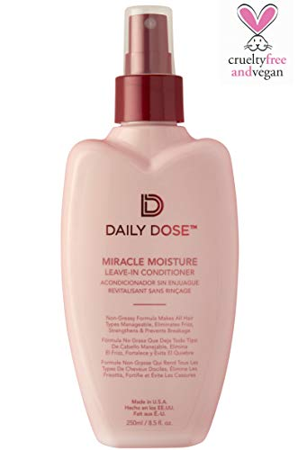 Daily Dose Miracle Moisture Spray Leave-In Conditioner Detangler, Paraben-Free, Phthalates-Free, Cruelty-Free, Vegan