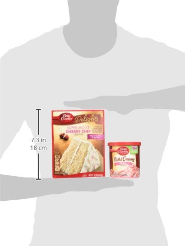 Amazon.com : Betty Crocker Cherry Chip Cake Mix and Cherry Frosting Bundle - 2 of Each : Grocery & Gourmet Food