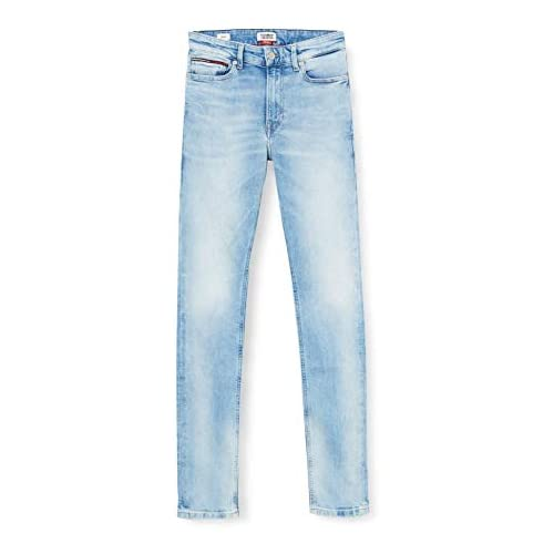 chollos oferta descuentos barato Tommy Jeans Hombre Simon Skinny Crtlt Straight Jeans Azul Court Light Blue Str Aj W32 L36