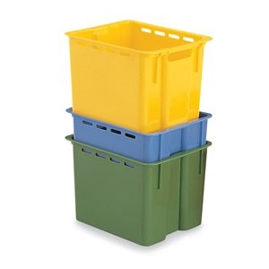 SCHAEFER Stack and Nest Container - 16x12x10-1/2