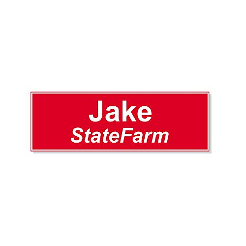 Holmes Stamp & Sign Jake from State Farm Halloween Costume Name Tag - Funny Halloween Costume ()