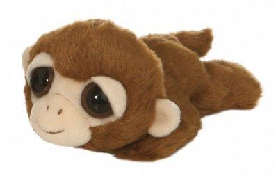 Davey the Plush Monkey Dreamy Eyes Laying Stuffed Primate by Aurora (Eyes Big Monkey)