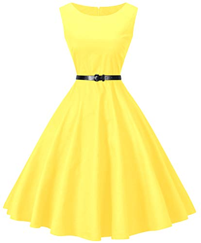 I2CRAZY 1960s Classic Vintage Swing Dress for Women(Size-S F15) -