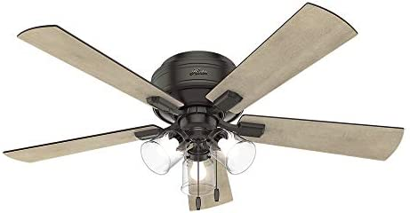 HUNTER 54208 Crestfield Indoor Low Profile Ceiling Fan