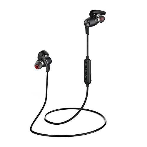 Origem Quick Charge Bluetooth Headphones Wireless Stereo Earbuds Runner In Ear Headset Sport Earphones with Mic and Sweatproof for Running, Gym, Exercise and Workout (Black)