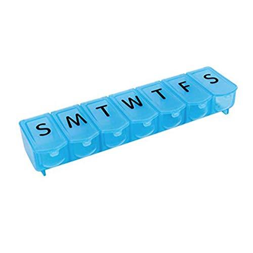 NszzJixo9 Pill Box 7 Day Medicine Tablet Dispenser Organizer Weekly Storage Case Extra Large