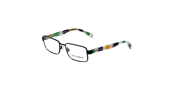 d50c22b7afc Amazon.com  Dolce   Gabbana Eyeglasses D G 1238P 1238 P 1237 Matte Black Optical  Frame 54mm  Clothing