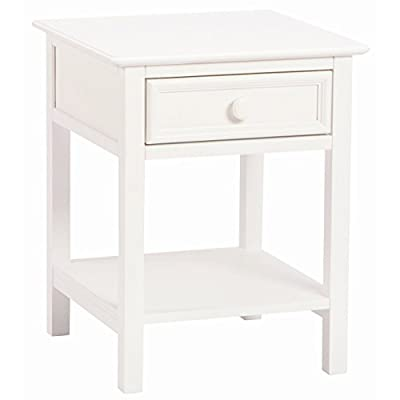Bolton Furniture Wakefield 1 Drawer Nightstand with Shelf, White - Solid Frame Construction-Built To Last 4 Sided-Dovetailed Drawer Box Construction Under Mount Self Closing Drawer Glides - nightstands, bedroom-furniture, bedroom - 31Yq8J4Xe0L. SS400  -