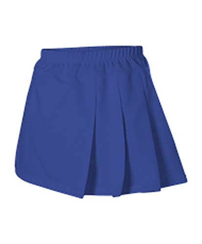 Alleson WOMENS CHEERLEADING THREE PLEAT SKIRT ROYAL M C200 C200-RO-M Pleat Cheer Skirt