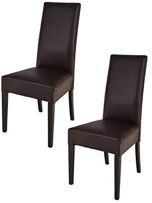 tmcs Tommychairs Set 2 sedie Luisa per Cucina, Sala da Pranzo Eleganti e Moderne, Struttura in Legno di faggio, Seduta e Schienale Imbottiti e