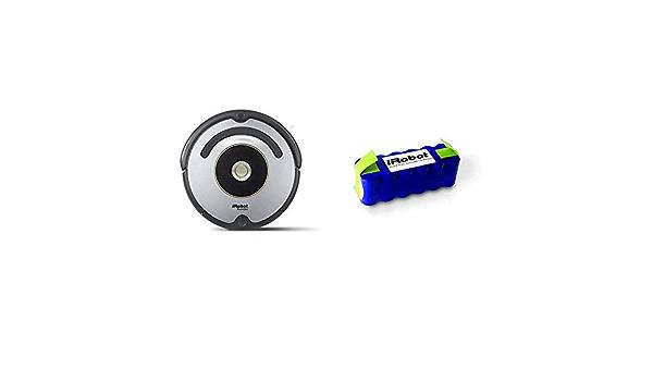 iRobot Roomba 615 - Robot Aspirador para Suelos Duros y alfombras, con tecnología Dirt Detect, Sistema de Limpieza en 3 Fases + Xlife - Batería Original para el Robot Aspirador iRobot Roomba: Amazon.es: Hogar