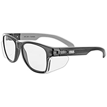 Retro Style Safety Glasses with Side Shield (With Pouch
