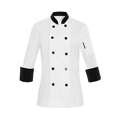 A Maniche Da Donna Cucina White Lunghe Giacca Xxs Label Cappotto Uk ITUwvn1