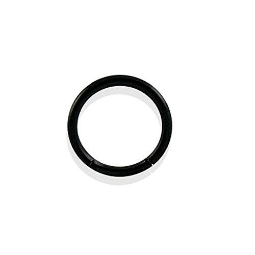 - Curved Barbells 10MM - 16G(1.2MM) Black Anodised Grade 23 Solid Titanium Segment Rings.