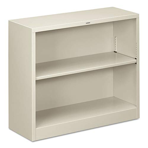 Bookcase Wide Metal - HON Metal Bookcase  - Bookcase with  Two Shelves,  34-1/2w x 12-5/8d x 29h, Light Gray  (HHS30ABC)