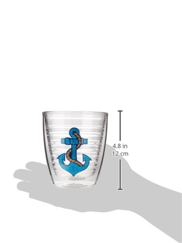 Sequins Tumbler with Emblem 12oz Tervis 1142952 Anchor Clear
