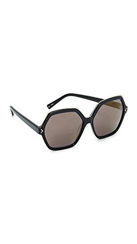 KENDALL + KYLIE Women's Ludlow Sunglasses, Shiny Black/Smoke, One - Kendall Sunglasses