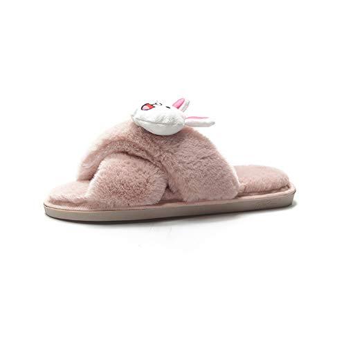 s Dibujos De En Shoes Peluche Pink Interior El Zapato Cálido Zapatillas Casa Resbalón gray Animados Cómodo Invierno FpqxZxA