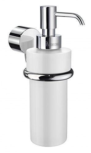 Smedbo Art Bathroom Wall Mount Soap Dispenser Pump and Bracket, Polished Chrome - Smedbo Brass Soap Dispenser