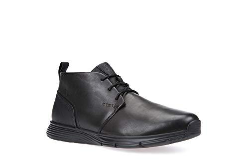 Geox Men's Snapish 7 Fashion Sneaker Black 43 EU/10 M US