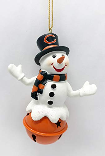 Bears Jingle Bell Top Hat Snowman Christmas Tree Ornament - Officially Licensed