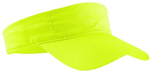(Port & Company Unisex-adult Fashion Visor CP45 -Neon Yellow OSFA)