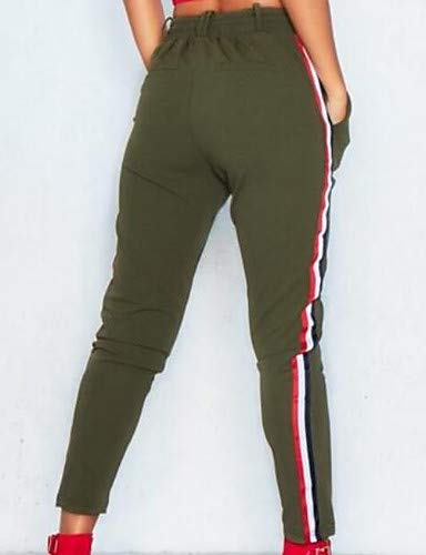 da Red YFLTZ Tinta Chino Pantaloni a donna unita Basic righe tRRq1x4OTw