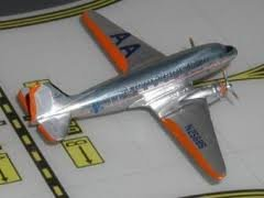ACGBN25686 AeroClassics GB American Overseas Airlines DC-3 N25686 Model Airplane