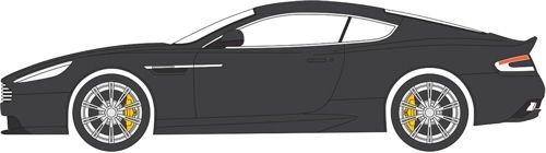 Aston Db9 Coupe Martin (Aston Martin Db9 Coupe, Black, Rhd, 0, Model Car, Ready-made, Oxford 1:76)