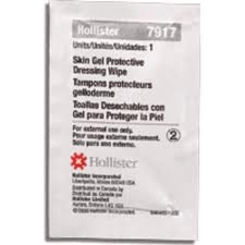 Hollister 7917 Skin Gel Protective Dressing Wipes 50 ct