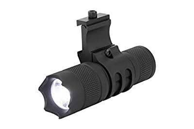 Monstrum Tactical 150 Lumens Flashlight with Remote Pressure Switch and Picatinny Rail Mount (White Light LED)