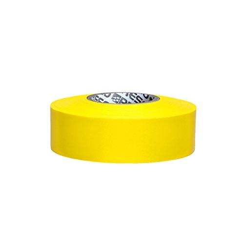 Yellow Flagging Tape - Presco PresGlo Taffeta Roll Flagging Tape: 1-3/16 in. x 50 yds. (Neon Yellow)
