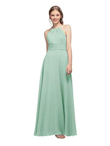 AW Bridal Long Bridesmaid Dresses Chiffon Prom Dresses A-Line Formal Dresses for Women, Mint Green, US0