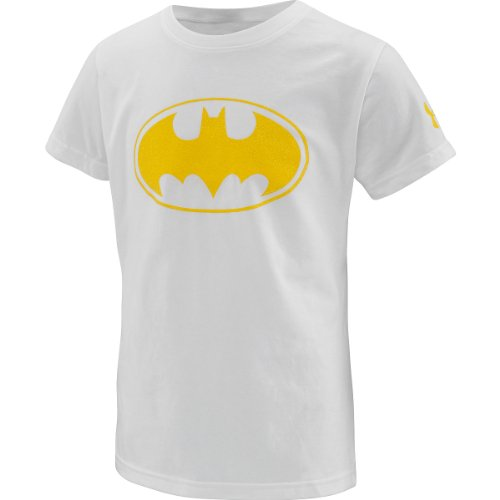 Under Armour Big Girls' Alter Ego Batgirl Sparkle T-Shirt (White/Yellow, YMD) Collection Under Armour