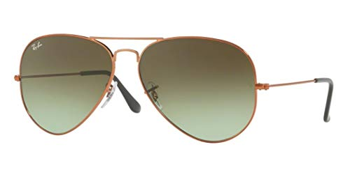 Gradient Brown Bronze - Ray-Ban RB3026 AVIATOR LARGE METAL II 9002A6 62M Shiny Medium Bronze/Green Brown Gradient Sunglasses