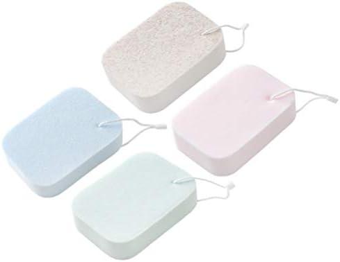 SUPVOX 4ピースボディウォッシュスポンジシャワークリーニング角質除去スポンジ吸水スポンジブラシ用女性男性