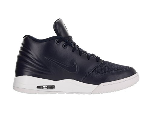 Nike Heren Air Entertrainer Enkel-hoge Leren Fashion Sneaker Obsidian Blauw / Obsidian-wit