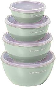 KitchenAid Tigelas de preparação com tampas, conjunto de 4, pistache