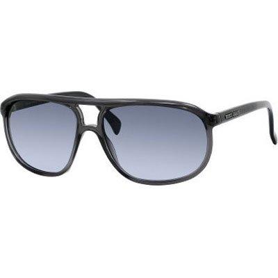 Giorgio Armani 927/S Men's Semi-Rectangle Full Rim Sports Sunglasses - Dark Gray/Blue Gradient/Size 59/15-140