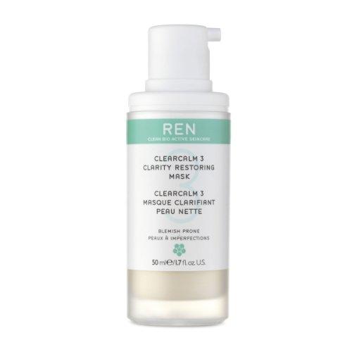 REN Clear Calm 3 Clarity Restoring Mask, 1.7 Ounce