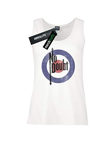 Doubt Absolute No Blanc Femme Distressed Quadro Tank Cult Top 6q1xa
