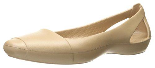 crocs Womens Sienna W Flat, Oro, 10 M US