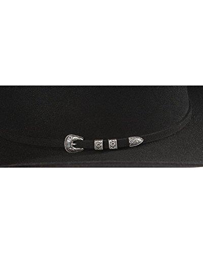 81c9e4826948c Stetson Men s 6X Bar None Fur Felt Western Hat Black 7 3 8 by Stetson