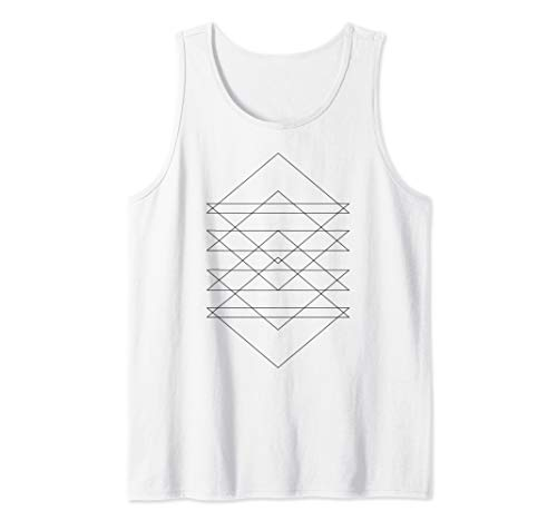 Sacred Geometry Abstract Art Geometric Triangle Lines Design Tank Top